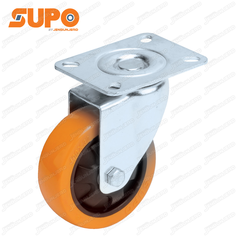 Z03 Hi-Tech Polyurethane with Plastic Center Castor Wheel 125 mm - Swivel